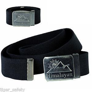 Sonnig Himalayan H860bk Revolve Schwarzes Leinen Gurtband Verstellbarer Gürtel Graphit Herren-accessoires Gürtel