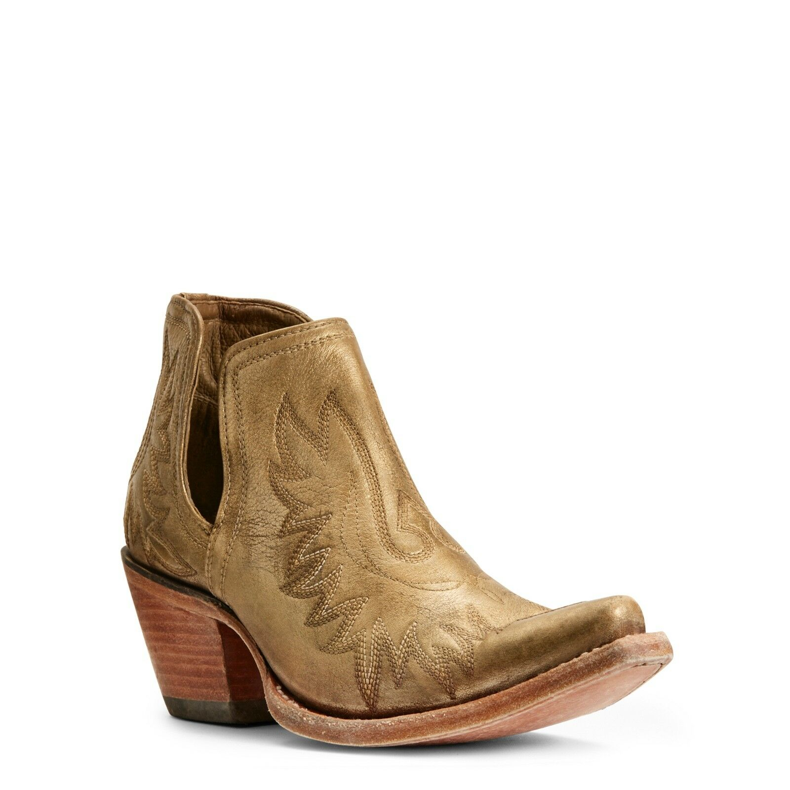 Ariat® Ladies Dixon Distressed gold Western Ankle Boots 10027287