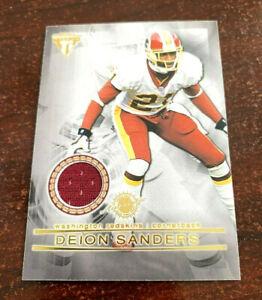 "2001 Titanium Deion Sanders Champ Bailey Dual Jersey Relic #125 Redskins ""HOF"""