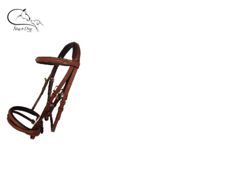 HKM German Padded Comfort Leather Bridle Reins Flash Nose All Sizes FREE P/&P
