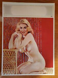 1950's Vintage Salesman Sample Pin Up Li-tho Art Calendar