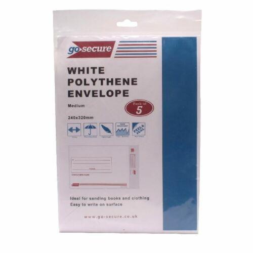 Go Secure extra fort polyéthylène enveloppes 245x320mm Pack de 50 PB08231 gosecure
