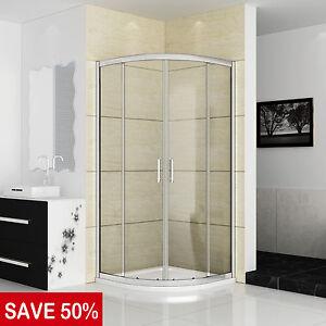Quadrant Shower Enclosure 900x900 and Tray Walk In Corner Cubicle Screen Door UK