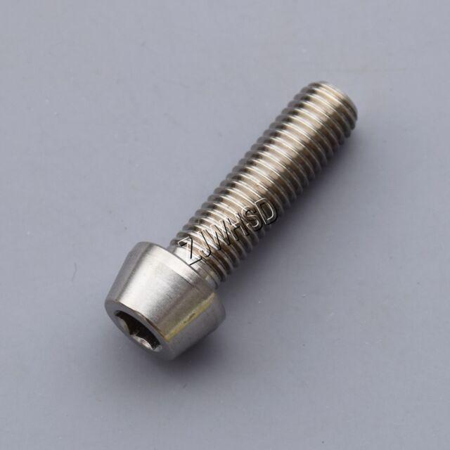 M7 x 25 Titanium Ti Screw Bolt Allen Hex Taper Socket Cap Head / Aerospace Grade