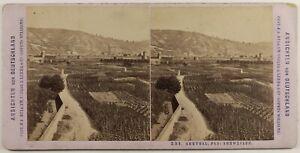Germania Ahrweiler Panorama Foto Stereo Vintage Albumina c1875
