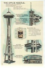 Space Needle, Seattle, Washington State, Construction Info -- Technical Postcard