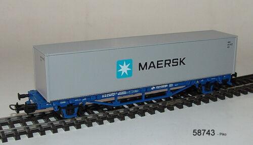 "VI Piko  58743- Containertrwagwagen- /""Maersk/"" mit 40ft Container Ep PKP Cargo"
