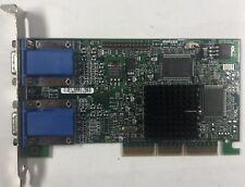 Matrox G450 ATX 2xVGA 16MB AGP Card G45-MDHA16D-IBM Dual Monitor Video Adapter