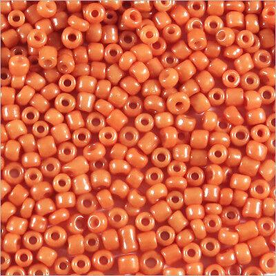 Perles de Rocailles en verre Transparent 2mm Centre Orange 20g 12//0