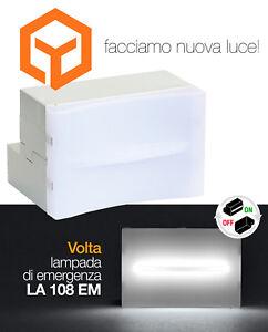 LA108EM-LAMPADA-EMERGENZA-ESTRAIBILE-INCASSO-3MODULI-VIMAR-IDEA-PLANA-EIKON-EVO