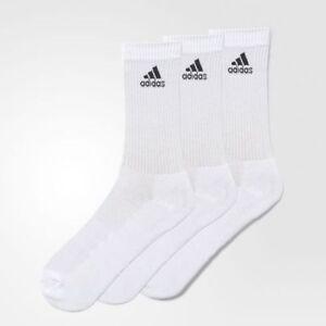 Details zu Adidas Herren Damen Trainings Performance Sport Crew Socken 3er Pack Weiß DZ9356