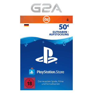 50€ Eur PlayStation Network Card - Sony PSN PS3 PS4 PS Vita 50 Euro Guthaben DE