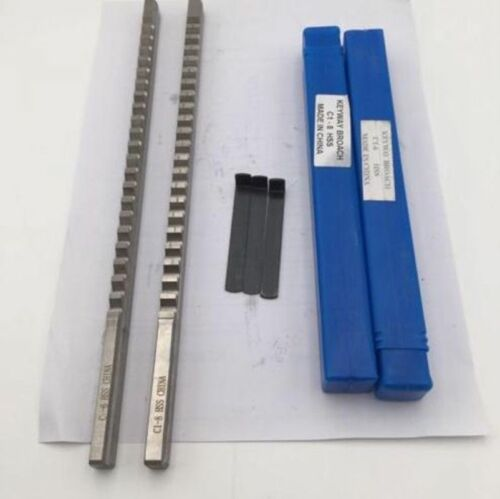 Keyway Broach C Push Type 6mm 8mm HSS Metric Size Cutter Metalworking Tool