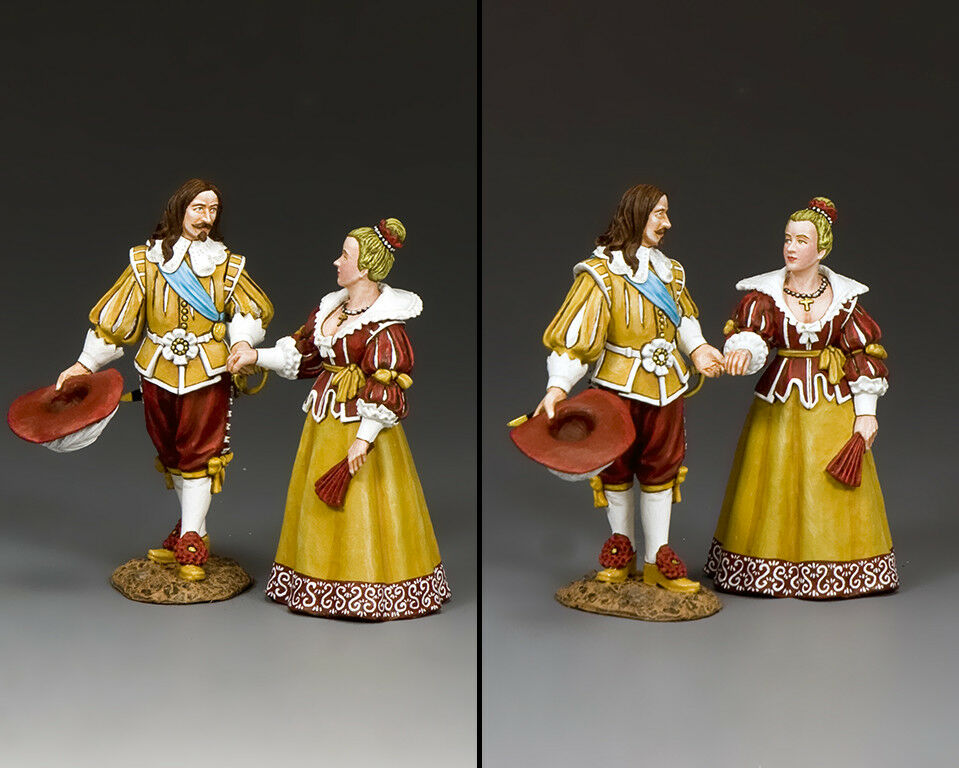 KING AND COUNTRY King Louis XIII & Queen Anne of France PnM077