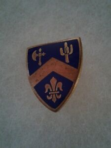 Authentic-WWII-US-Army-184th-Infantry-Regiment-Unit-DI-DUI-Crest-Insignia-NH