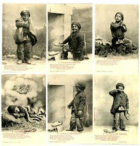 CPA-Fantaisie-Bergeret-Le-Noel-du-Petit-Ramoneur-serie-de-6-cartes-postcard