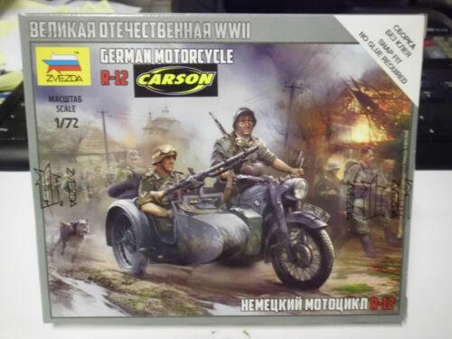 Zvezda 1:72 6142 Deutsches Motorrad BMW R12 mit Beiwagen NEU OVP