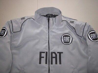 NEU FIAT Fan Jacke silbergrau veste jacket jas giacca jakka jack | eBay
