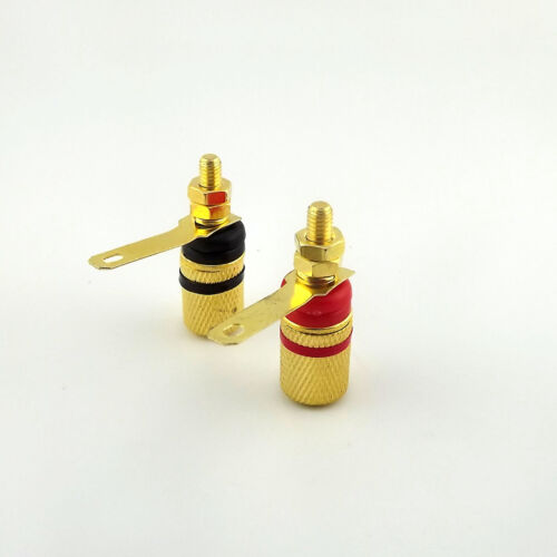 20pcs Gold Plated Amplifier Terminal Binding Post 4mm Banana Female Jack Plug