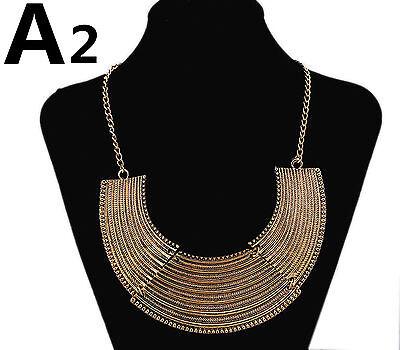 New Fashion Silver or gold Pendant Statement Bib Chunky Charm Choker Necklace