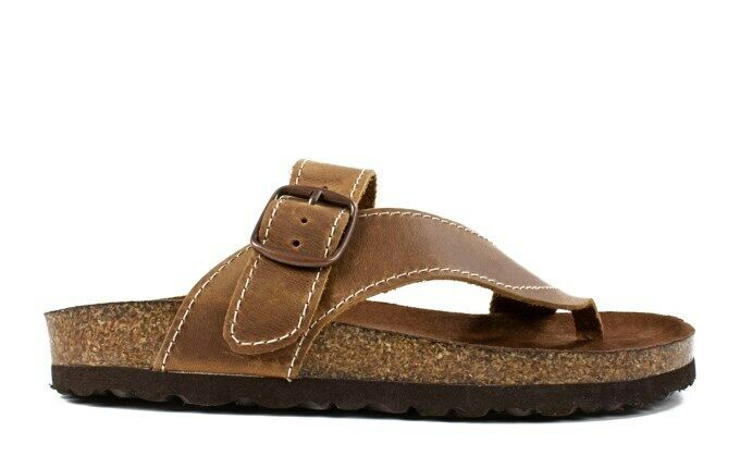 WOMEN'S WHITE MOUNTAIN CARLY FOOT BED SANDALS COLORWHISKEY BROWN SIZE 6 M