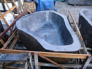 Image Is Loading Freestanding River Rock Bathtub 2100 Mm X 1800