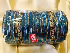 2.10 XL Bollywood Bangles Bracelet Indian Wedding  Fancy Jewellery Set Silver T1