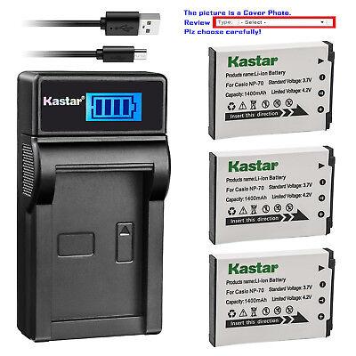 ex-z155 ex-z250 np-70 Cámara de batería cargador Micro USB para Casio Exilim ex-z150