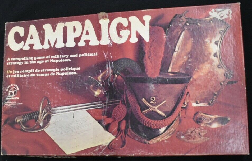 Campaign Board Game Vintage 1971 edition