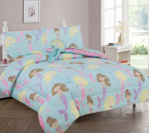 TWIN 6PC GG NEW BED IN A BAG COMPLETE KIDS BED COMFORTER TOP PRINTED FULL 8PC