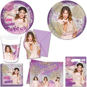 Das Bild Wird Geladen Violetta Kindergeburtstag  Party Dekoration Martina Stoessel Disney Geburtstag