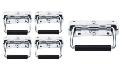 Steel Spring Loaded Rubber Handle Carry DJ Speaker Case Box Flight Case Chest