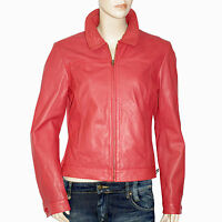I.code By Ikks Blouson Cuir Rouge ( Rosé ) Femme Taille 40