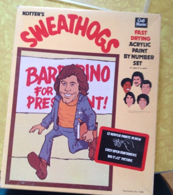 Welcome Back Kotter John Travolta Sweathogs Paint by Number Collectible 1970s