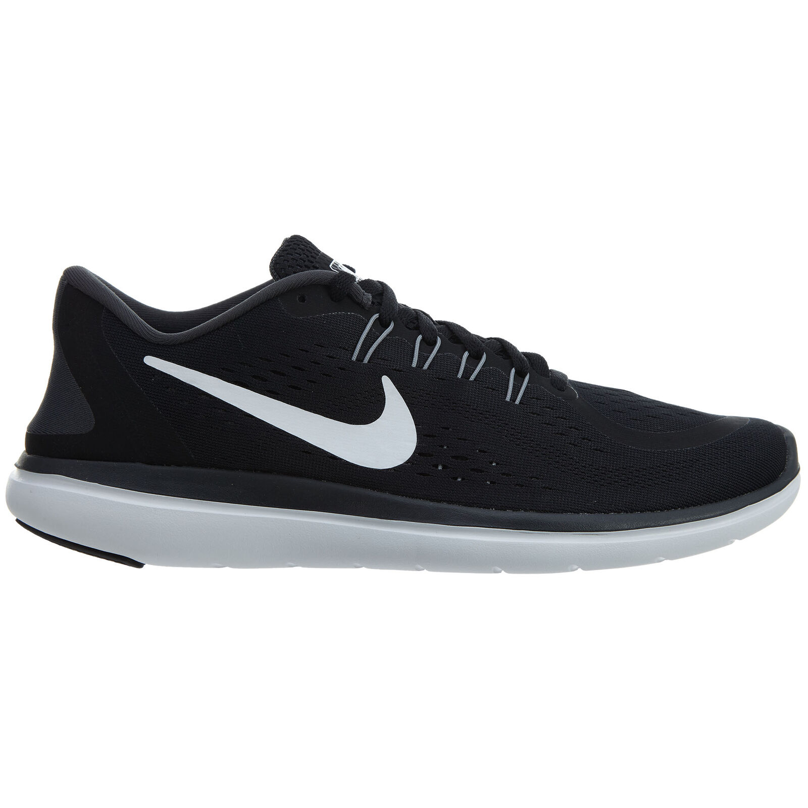 Nike Flex 2018 RN Mens 898457-001 Black White Grey Mesh Running Shoes Size 8.5