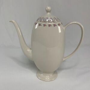 Franciscan-China-Crinoline-Pink-amp-Blue-Coffee-Pot-amp-Lid