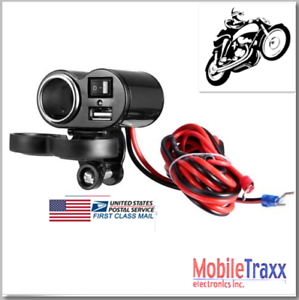 7-8-034-30A-Motorcycle-Heavy-Duty-Lighter-Socket-USB-Power-Charger-Power-Switch