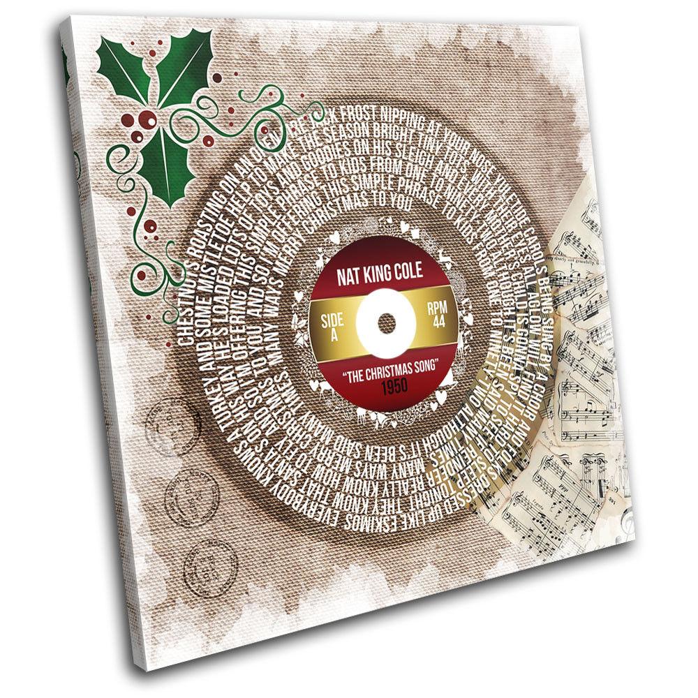 Lyrics The Song Nat King Cole Christmas SINGLE TOILE murale ART Photo Print