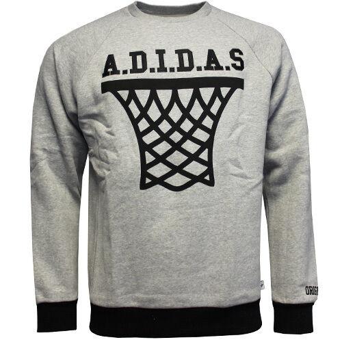 Street Originali Adidas San Basketball Hoop Uomo Girocollo Da Grigio Felpa w6q1Xdqc