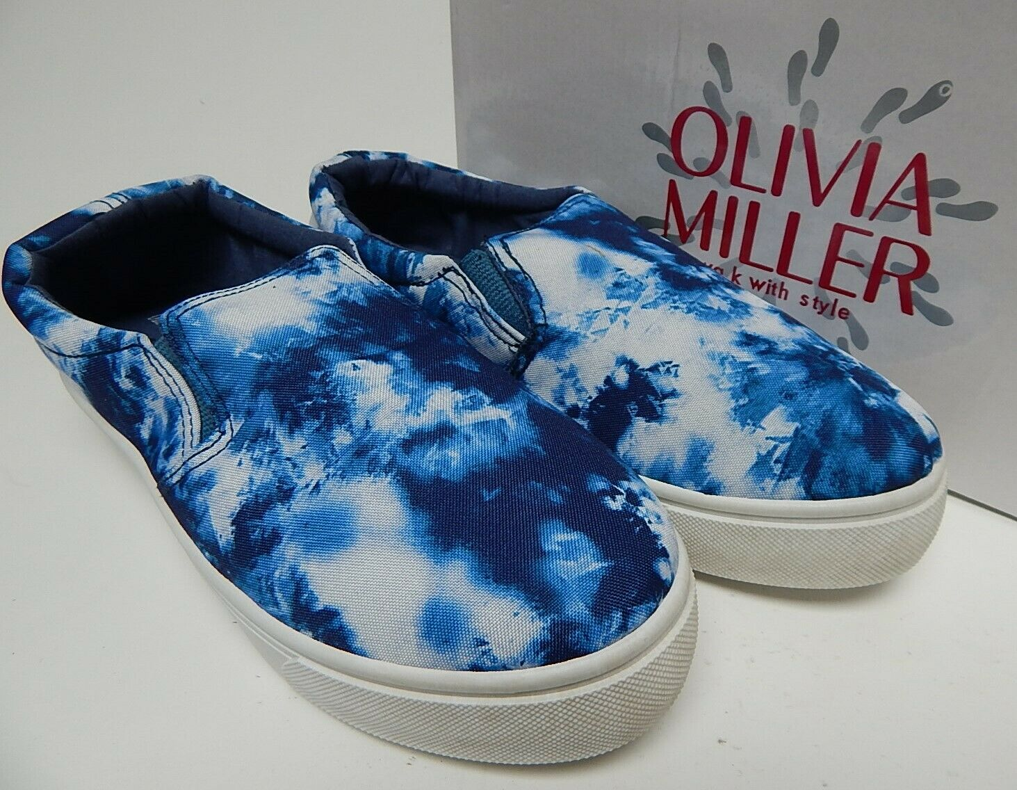 Olivia Miller Tayrona taille US 9 M Femme Tie Dye Lacet Plate-forme Baskets Bleu