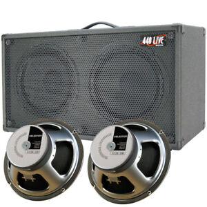 2x12 Guitar Spkr Cabinet Charcoal black Tolex W//CELESTION Rocket 50 Speakers