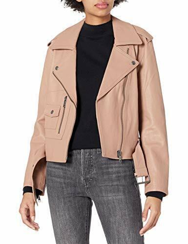 Joie Women/'s Classic Moto Leather Jacket