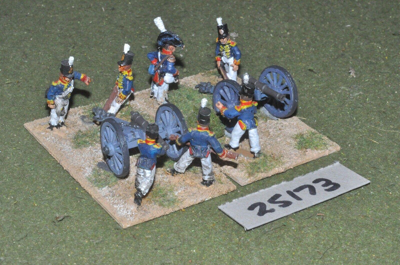 25mm napoleonic   british - foot 2 guns & crews - art (25173)