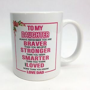 Image Is Loading Daughter From Mom Or Dad Tea Coffee Mug