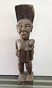 ZAIRE-ANTIQUE-EARLY-AFRICAN-WOOD-SCULPTURE
