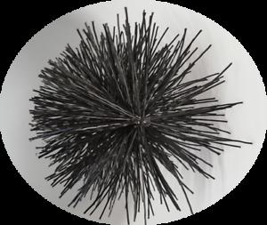 CFC024 150mm/6 inch dia Black Polypropylene Flue Brush 200mm long