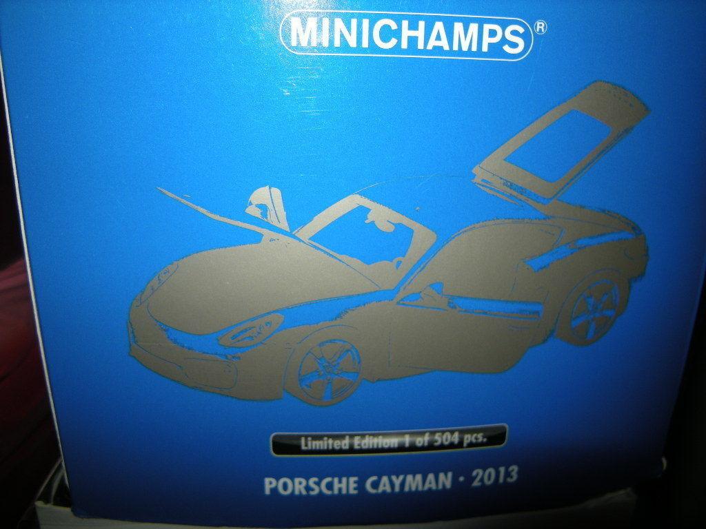 1 18 Minichamps Porsche Cayman 2013 Limited EDITION 1 OF 504 NR 110062221 in neuf dans sa boîte