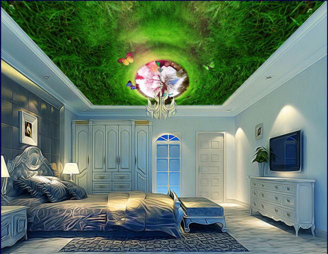 3D Meadow 49 Ceiling WallPaper Murals Wall Print Decal AJ WALLPAPER US