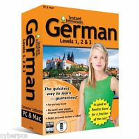 Learn How To Speak German With Instant Immersion Levels 1-3 Retail Box