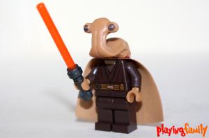 LEGO STAR WARS Ithorianischer Jedi Meister Figur aus LEGO®-Teilen MOC